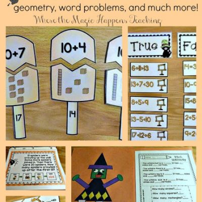 October Math Stations, a freebie, and TONS of deals!