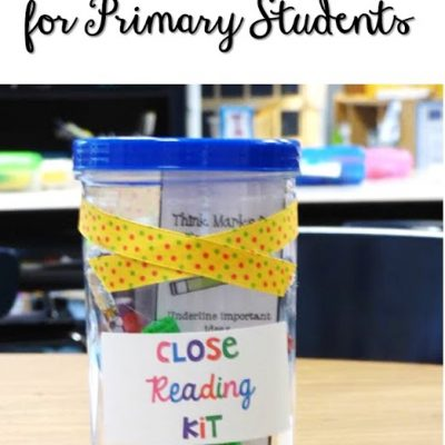 Close Reading  ideas and Strategies in the Primary Grades {and many FREEBIES!!}