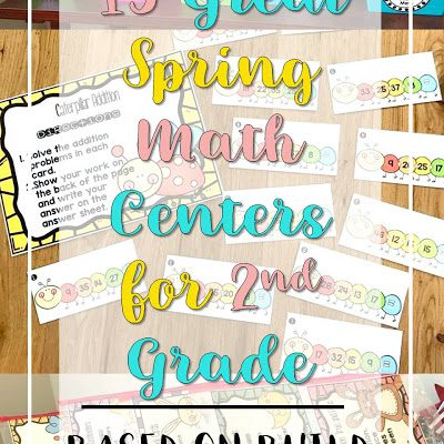15 Great Spring Math Centers for 2nd Grade