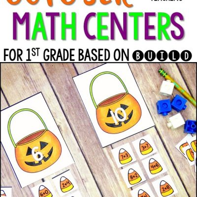 October Math Centers Based on BUILD