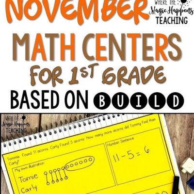 November Math Centers Based on BUILD