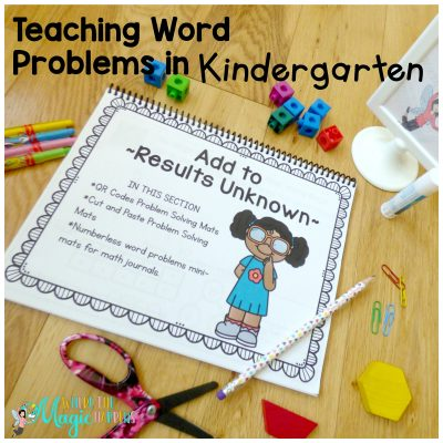 Teaching Word Problems in Kindergarten