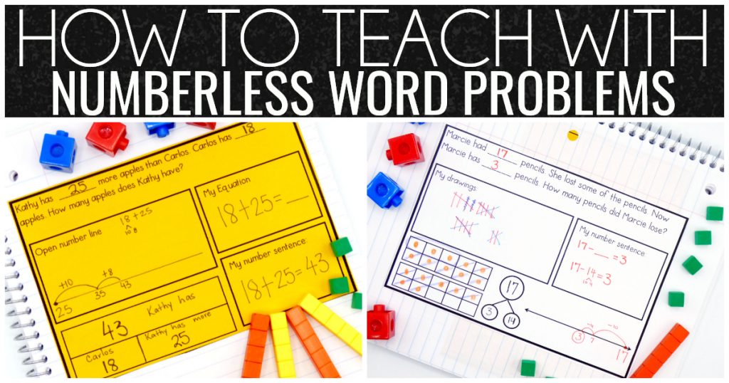 How to Teach with Numberless Word Problems - Where the Magic