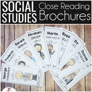 Social Studies Close Reading Brochures