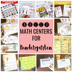 BUILD Math centers for Kindergarten