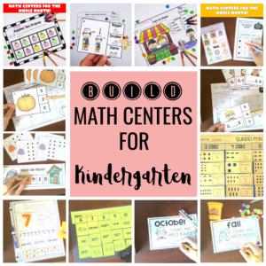 BUILD Math centers for Kindergarten