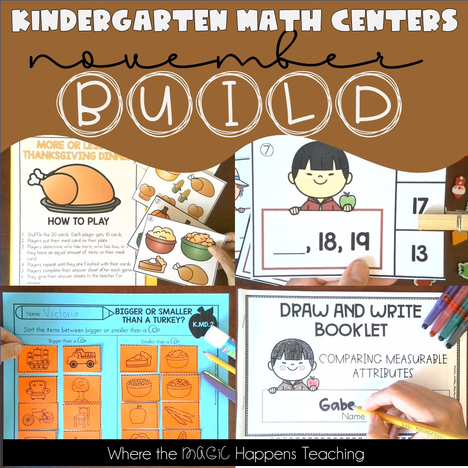 Kindergarten BUILD Math Centers