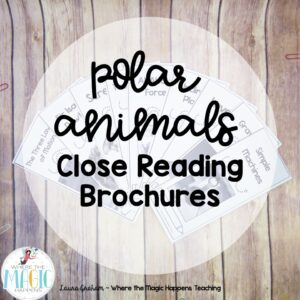 Polar animals close reading brochure
