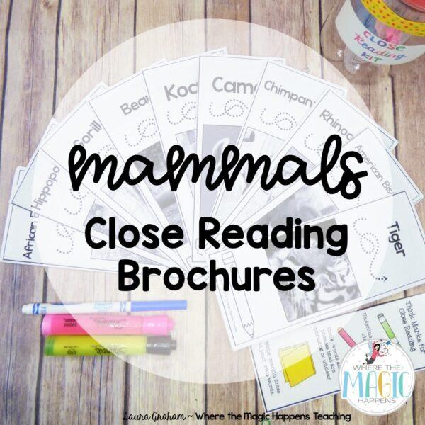 mammals close reading passage