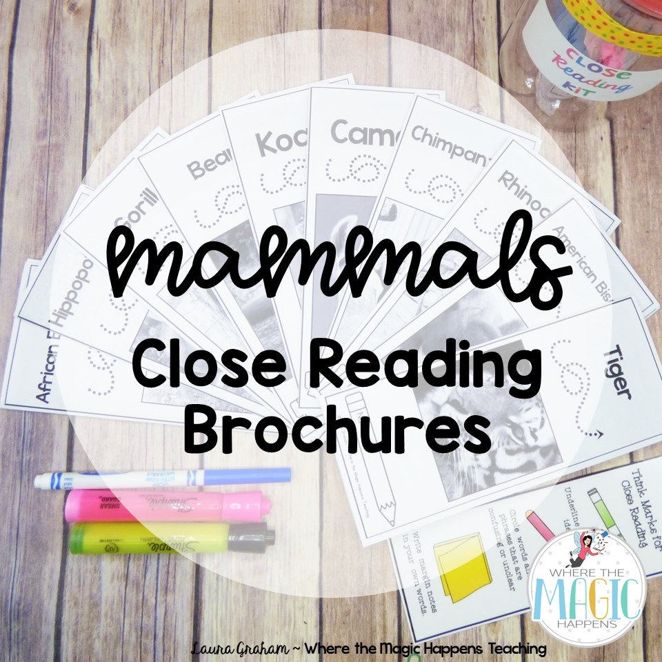 mammals close reading passage