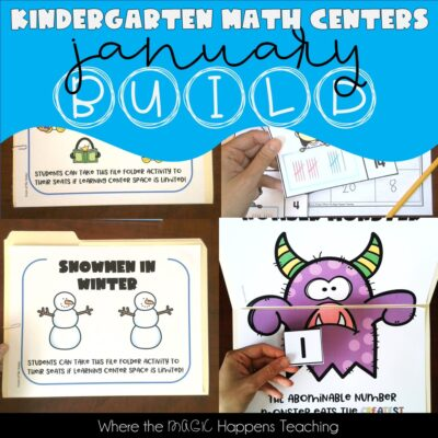 January Math Centers BUILD -Kindergarten-