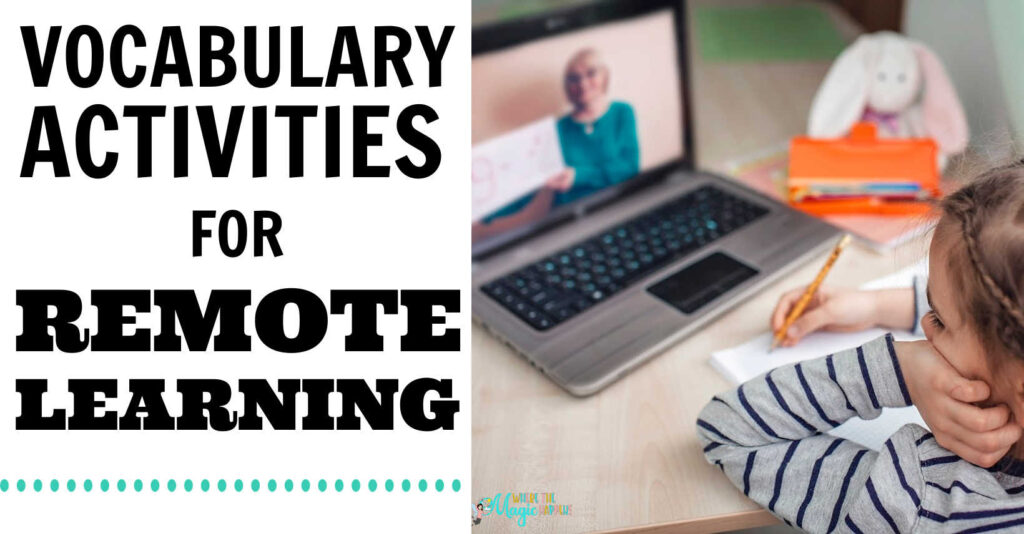 vocabulary activities for virtual learning