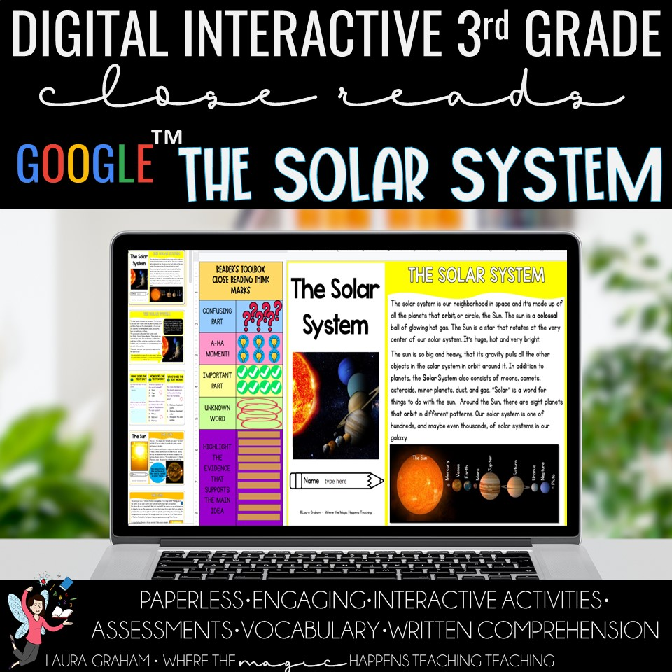 solar system digital close reading