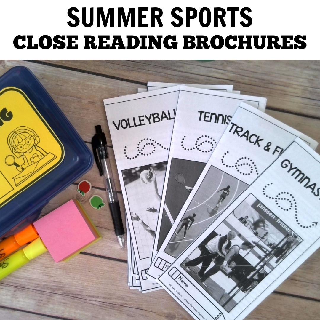 Summer Sports Close Reading Activities